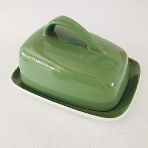 Poole Pottery  - Cheese Butter Dish - 50s